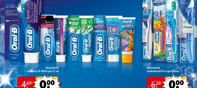 De rondslomp voor een gratis Tandenborstel