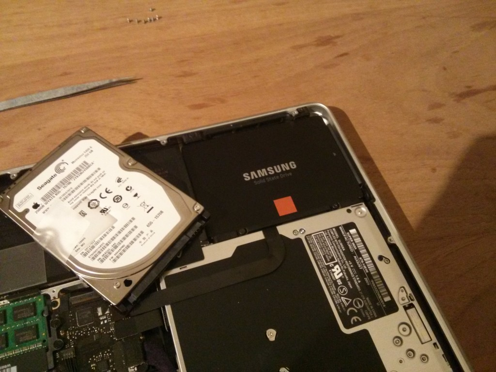 Samsung SSD 840 in Macbook