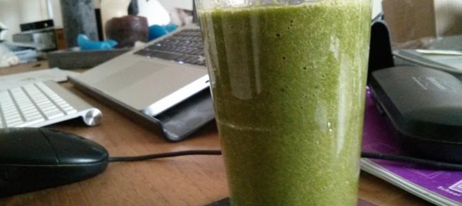 Mijn eerste groene smoothie!